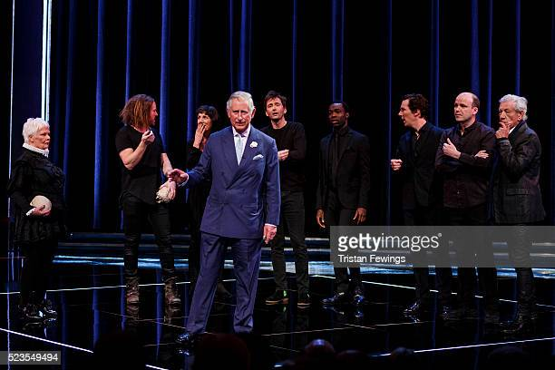 Prince Charles, Prince of Wales performs alongside Dame Judi Dench, Tim Minchin, Harriet Walter, David Tennant, Paapa Essiedu, Benedict Cumberbatch,...