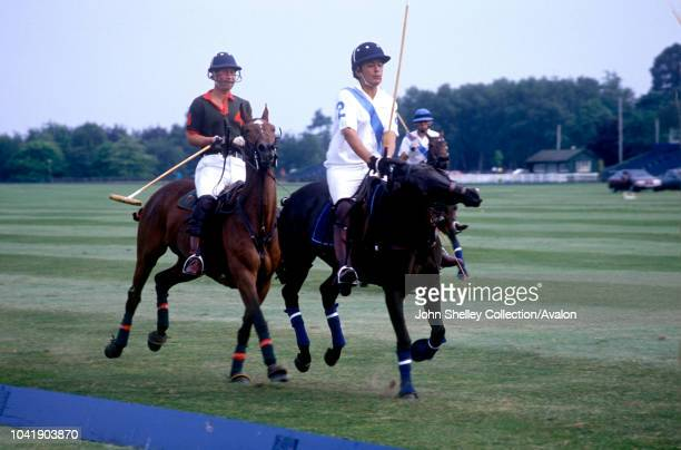 Prince Charles Prince of Wales Playing polo at a polo match at Cirencester Polo Club 4th June 1989