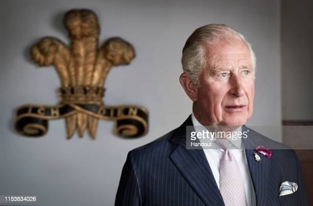 HRH Prince Charles Prince of Wales poses for an official portrait to mark the 50th anniversary of his Investiture taken at their Welsh residence...