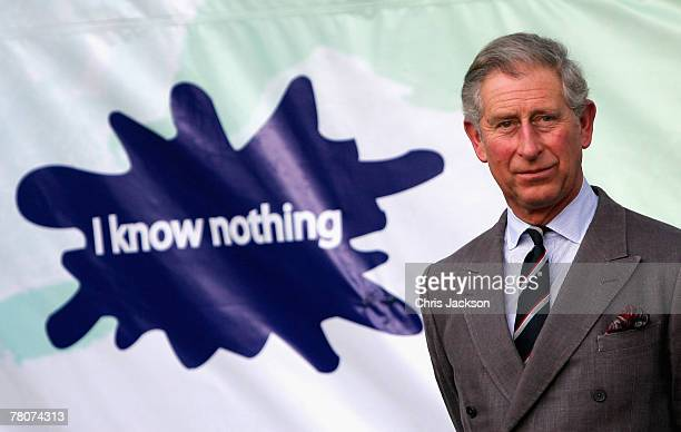 Prince Charles Prince of Wales prepares to make a speech at the People's Space at the Africana Hotel on November 23 2007 in Kampala Uganda The Prince...