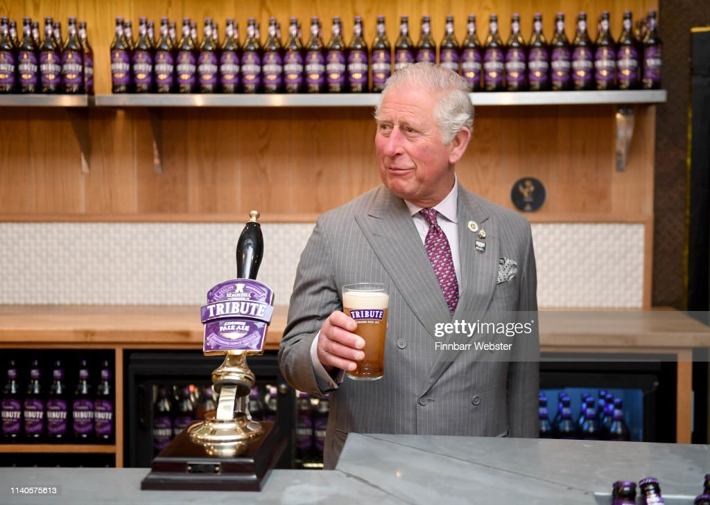 GBR: The Prince Of Wales Visits St Austell Brewery
