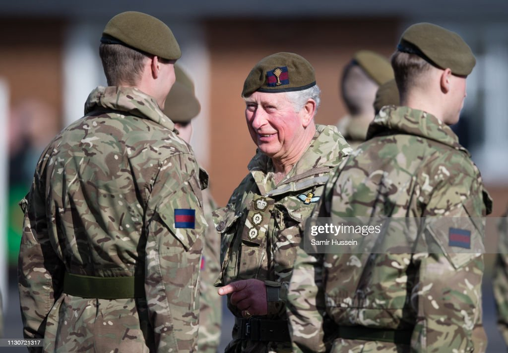 The Prince Of Wales Presents Campaign Medals To The 1st Battalion Welsh Guards : News Photo