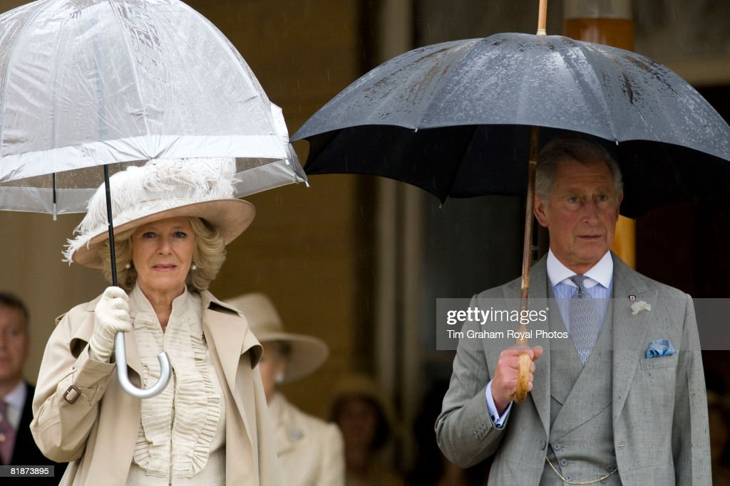 Prince Charles, Prince of Wales, President of the British Red Cross and Camilla, Duchess of Cornwall attend a garden party in the grounds of Buckingham Palace held to mark the Centenary of The British Red Cross' Royal Charter, on July 9, 2008 in London, England.