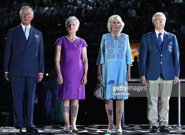 Prince Charles Prince of Wales President of the Commonwealth Games Federation Louise Martin Camilla Duchess of Cornwall and Chairman of Gold Coast...