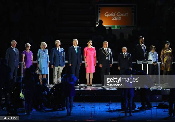 Prince Charles Prince of Wales President of the Commonwealth Games Federation Louise Martin Camilla Duchess of Cornwall Chairman of Gold Coast 2018...