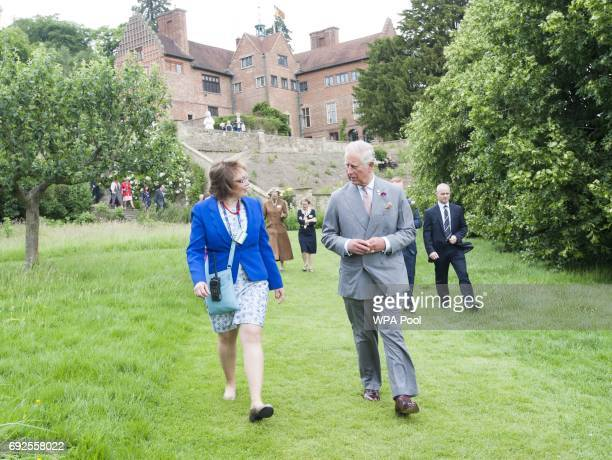 Prince Charles Prince of Wales President of The National Trust visits Chartwell House the former country home of Sir Winston Churchill which has...