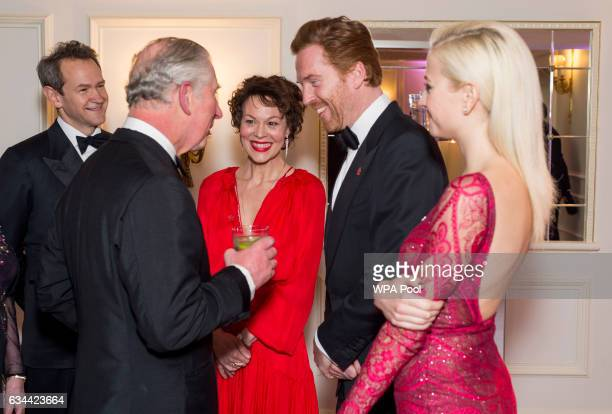 Prince Charles Prince of Wales President of The Princes Trust chats to Alexander Armstrong Helen McCrory Damian Lewis and Pixie Lott as he attends...