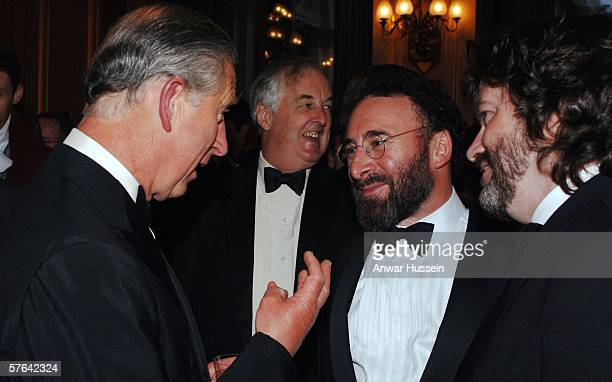 Prince Charles, Prince of Wales, president of the Royal Shakespeare Company, talks to actor Anthony Sher at a gala celebration event for the RSC's...