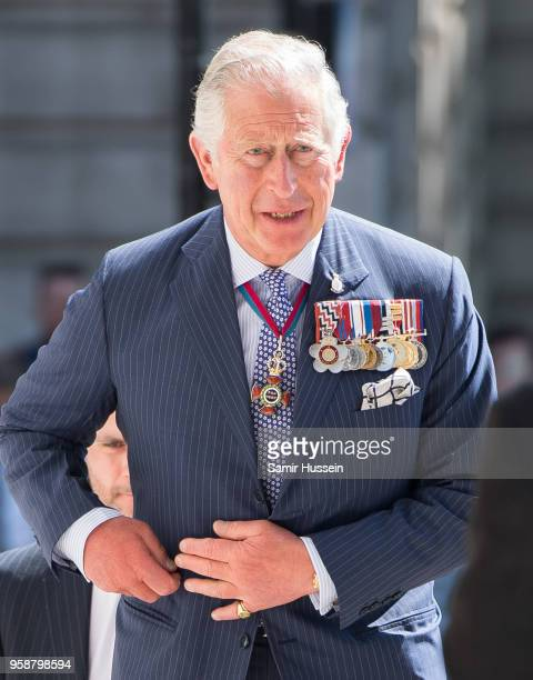 Prince Charles Prince of Wales President of the Victoria Cross and George Cross Association attends a Service at St MartinintheFields Trafalgar...