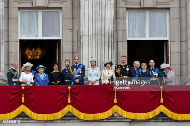 Prince Charles Prince of Wales Prince Andrew Duke of York Camilla Duchess of Cornwall Queen Elizabeth II Meghan Duchess of Sussex Prince Harry Duke...