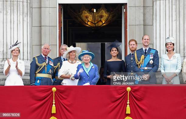 Prince Charles, Prince of Wales, Prince Andrew, Duke of York, Camilla, Duchess of Cornwall, Queen Elizabeth II, Meghan, Duchess of Sussex, Prince...