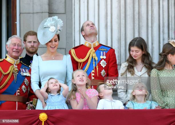 Prince Charles Prince of Wales Prince Harry Duke of Sussex Catherine Duchess of Cambridge Prince William Duke of Cambridge Princess Charlotte of...
