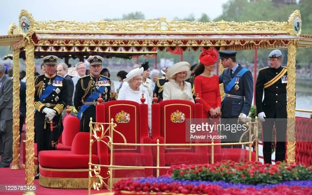 Prince Charles, Prince of Wales, Prince Philip, Duke of Edinburgh, Queen Elizabeth ll, Camilla, Duchess of Cornwall, Catherine, Duchess of Cambridge,...