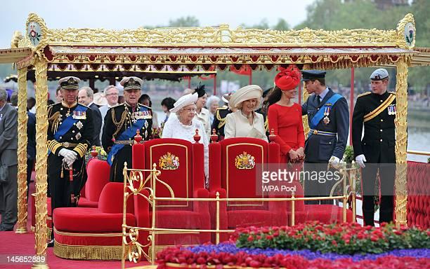 Prince Charles Prince of Wales Prince Philip Duke of Edinburgh Queen Elizabeth II Camilla Duchess of Cornwall Catherine Duchess of Cambridge Prince...