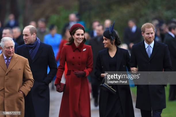 Prince Charles Prince of Wales Prince William Duke of Cambridge Catherine Duchess of Cambridge Meghan Duchess of Sussex and Prince Harry Duke of...