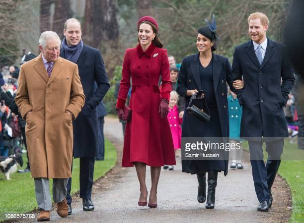 Prince Charles, Prince of Wales, Prince William, Duke of Cambridge, Catherine, Duchess of Cambridge, Meghan, Duchess of Sussex and Prince Harry, Duke...