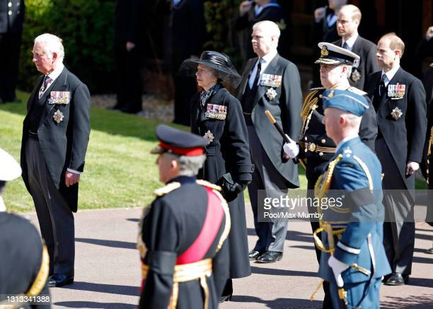 Prince Charles, Prince of Wales, Princess Anne, Princess Royal, Prince Andrew, Duke of York, Prince William, Duke of Cambridge and Prince Edward,...