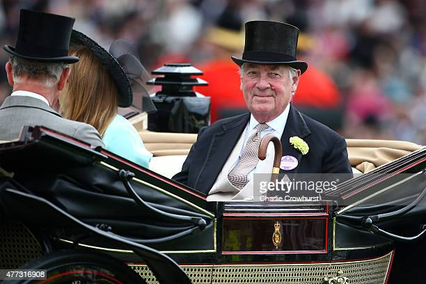Prince Charles, Prince of Wales, Princess Beatrice of York and Lord Vestey ride on royal procession the during Royal Ascot 2015 at Ascot racecourse...