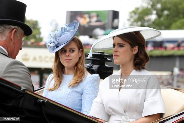 Prince Charles Prince of Wales Princess Beatrice of York and Princess Eugenie of York attend Royal Ascot Day 1 at Ascot Racecourse on June 19 2018 in...