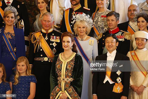 Prince Charles Prince of Wales Princess Lalla Salma of Morocco Camilla Duchess of Cornwall Crown Prince Naruhito and Crown Princess Masako of Japan...
