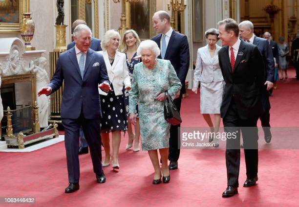 Prince Charles Prince of Wales Queen Elizabeth II Prince William Duke of CambridgeCamilla Duchess of Cornwall Sophie Countess of Wessex Princess Anne...