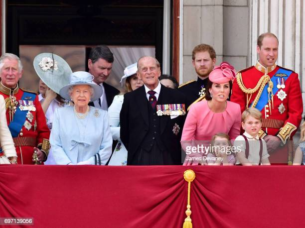Prince Charles Prince of Wales Queen Elizabeth II Vice Admiral Timothy Laurence Prince Philip Duke of Edinburgh Prince Harry Catherine Duchess of...