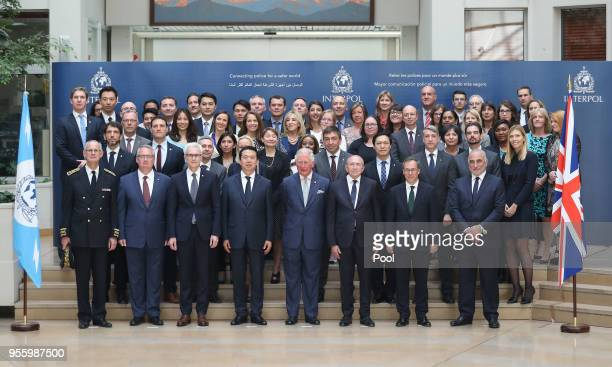 Prince Charles Prince of Wales Secretary General of Interpol Jurgen Stock President of Interpol Meng Hongwei French Interior Minister Gerard Collomb...