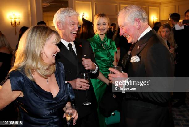 Prince Charles Prince Of Wales shares a joke with Stephanie Lowe Phillip Schofield and Fearne Cotton during the Prince's Trust 'Invest In Futures'...