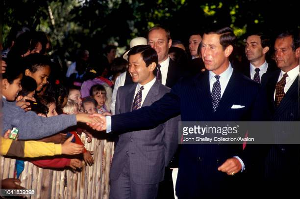 Prince Charles Prince of Wales shows Naruhito Crown Prince of Japan around Holland Park London United Kingdom 17th September 1991