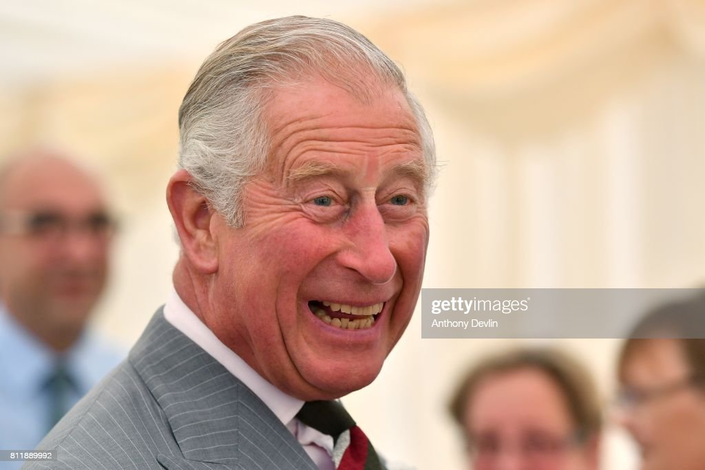 Prince Charles, Prince of Wales smiles during The Prince of Wales' annual Summer visit to Wales at Rachel's Organic on July 10, 2017 in Aberystwyth, Wales. Rachel's was Britain's first organic dairy and was a pioneer of branded organic produce. The company supplies a range of organic products, all made simply, using the highest quality ingredients, with no artificial colours, flavourings or preservatives.