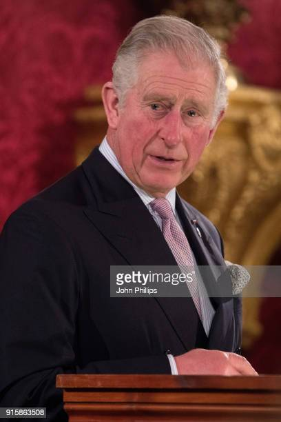 Prince Charles Prince of Wales speaks at the Prince's Trust 'Invest in Futures' predinner reception celebrating the oneyear anniversary of The...