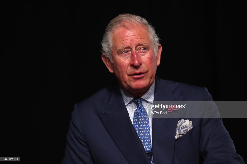 Prince Charles, Prince of Wales speaks during a visit to the YouTube Space London at Kings Cross on May 16, 2018 in London England. Prince Charles, Prince of Wales and Camilla, Duchess of Cornwall are making a whistle stop tour of the capital, visiting businesses showcasing innovation.