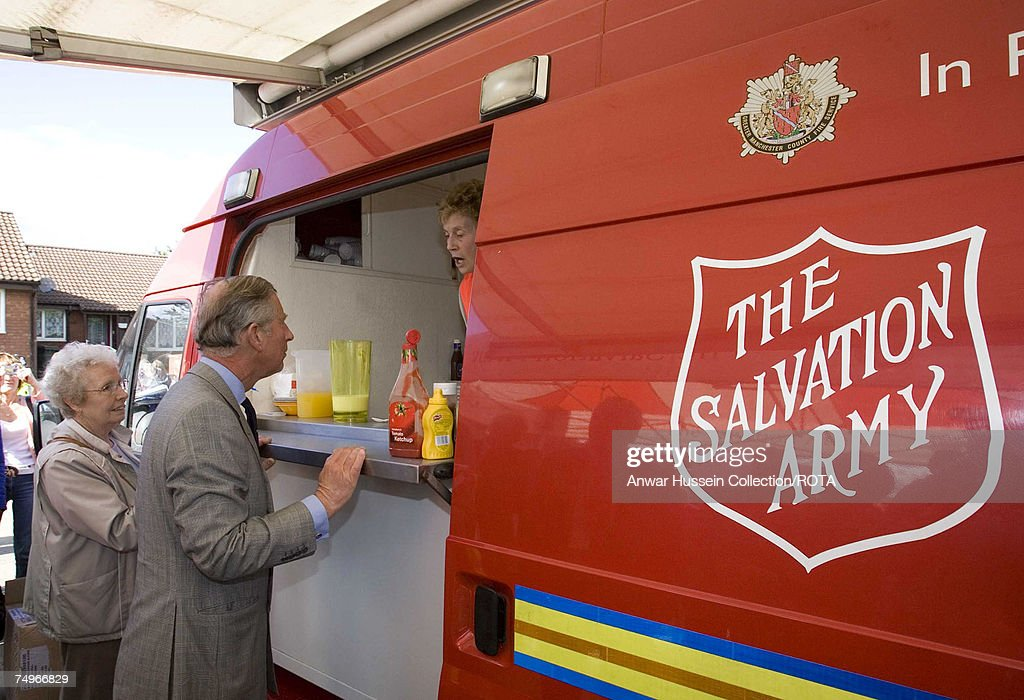 Prince Of Wales Visits Flood Victims : News Photo
