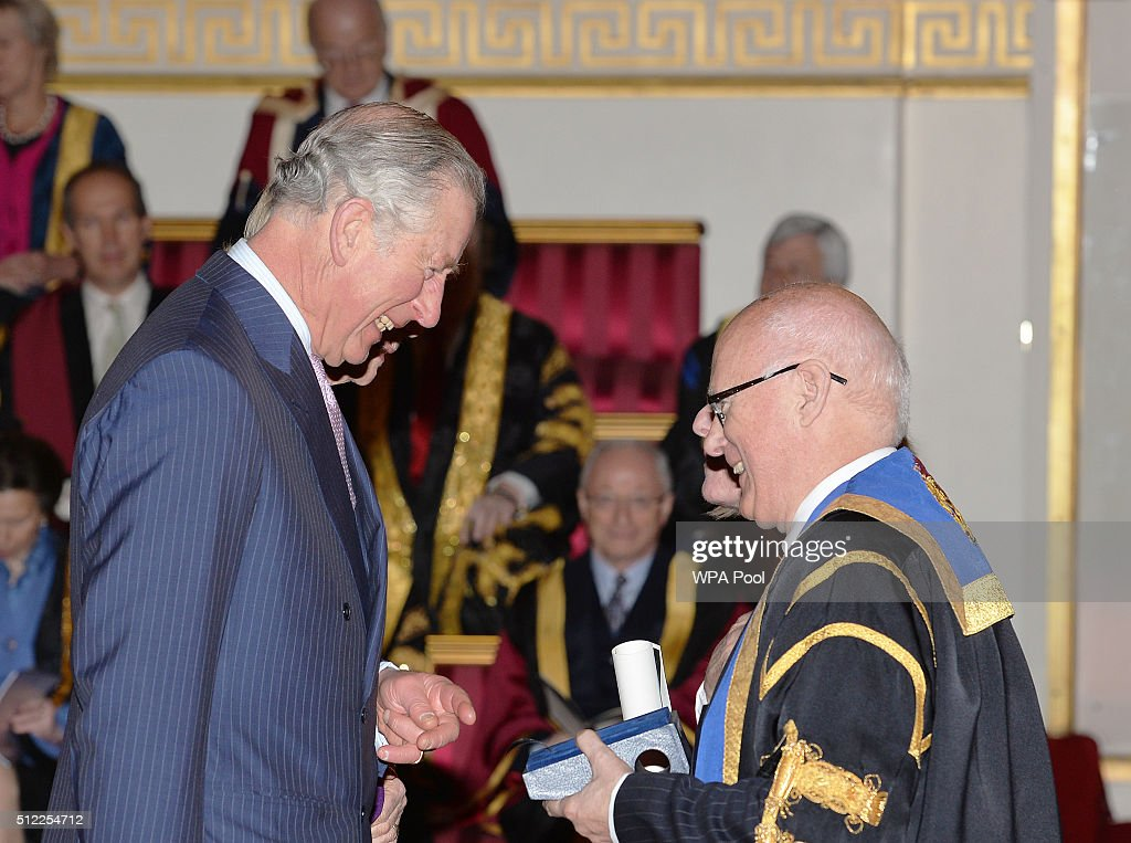 Prince Charles, Prince of Wales speaks with Professor Andrea Nolan of Edinburgh Napier University, during the presentation of The Queen's Anniversary Prizes for higher and further education, at a ceremony in Buckingham Palace on February 25, 2016 in London, England.