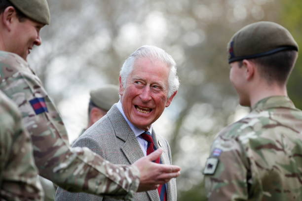 GBR: The Prince Of Wales Visits The Welsh Guards