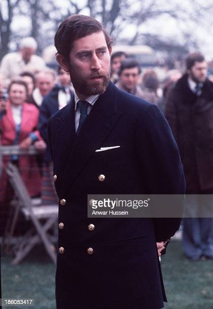 Prince Charles Prince of Wales sports a smart naval beard as he attends Badminton Horse Trials on May 4 1976 in Badminton England