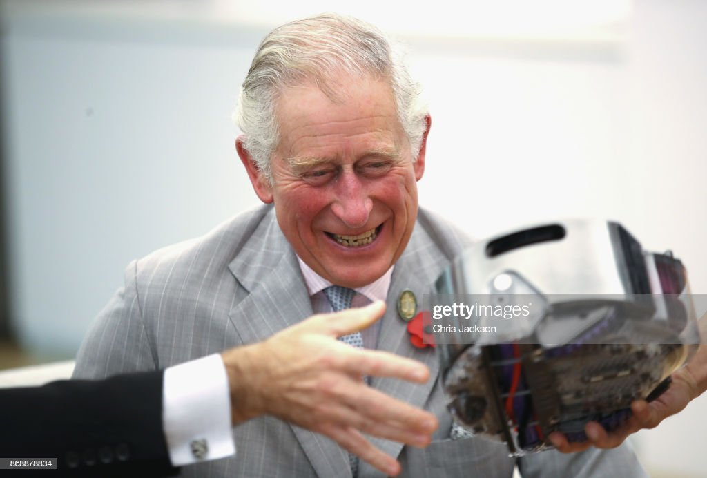Prince Charles, Prince of Wales takes a tour of the Dyson Technology Centre on November 1, 2017 in Singapore. Prince Charles, Prince of Wales and Camilla, Duchess of Cornwall are on a tour of Singapore, Malaysia, Brunei and India