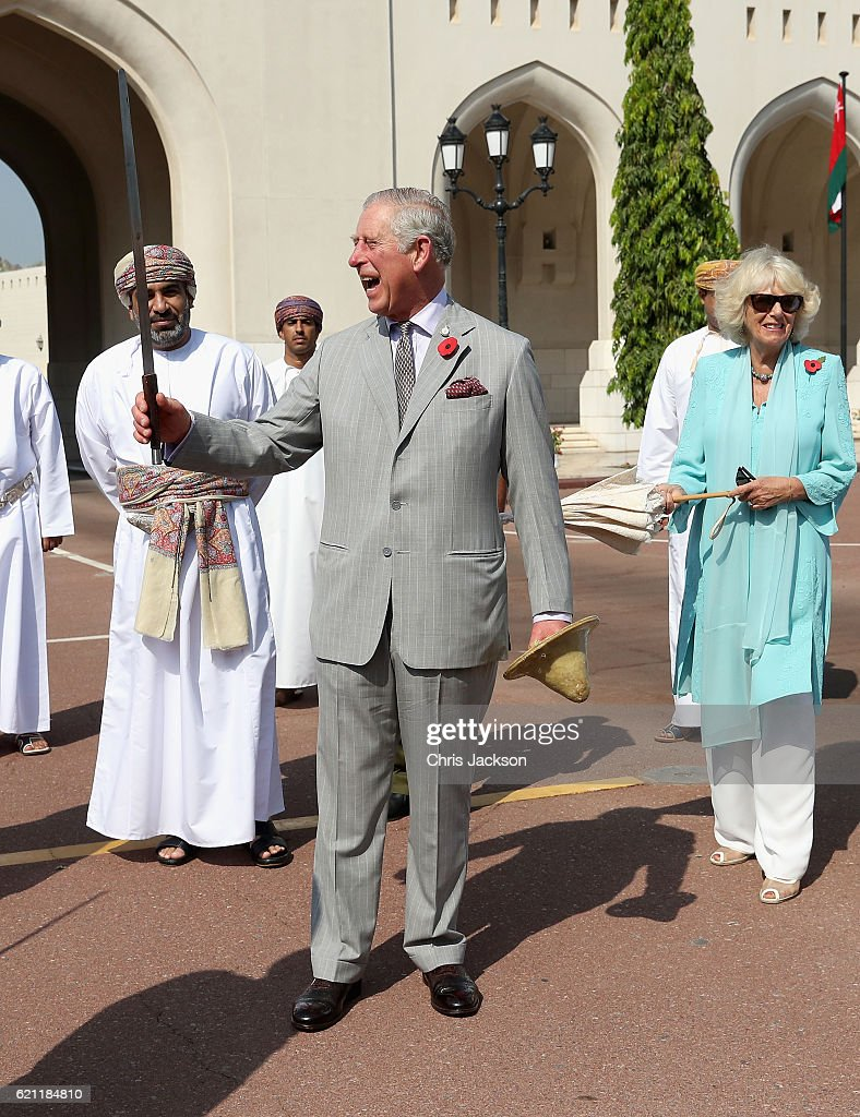 The Prince of Wales and The Duchess of Cornwall Tour Oman - Day 1 : News Photo