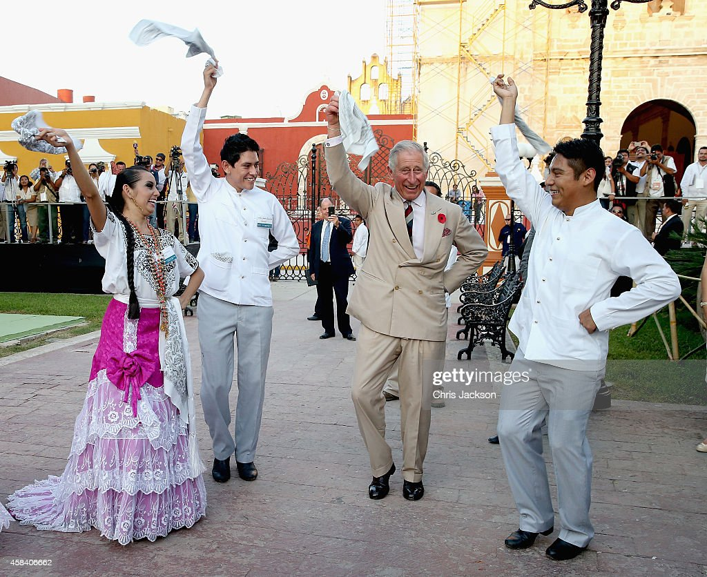 Prince Charles Of Wales Takes Part In Traditional Mexican Clog Dancing Zocalo Square