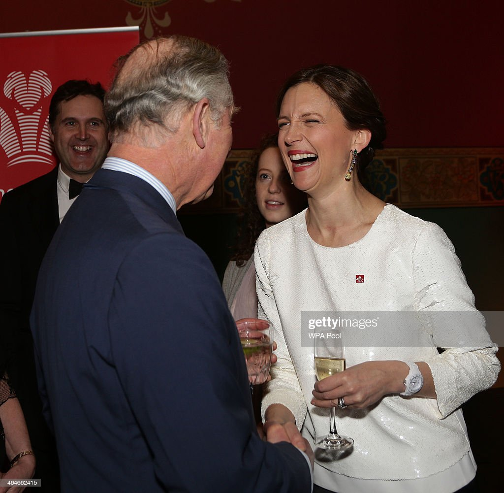Prince Charles, Prince of Wales talks to Katie Durham during a leadership reception hosted by The Prince's Trust at The Royal Courts of Justice on January 23, 2014 in London, England.