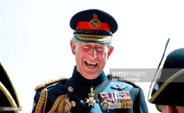 Prince Charles, Prince of Wales talks with Chelsea Pensioners as he attends the annual Founder's Day Parade at the Royal Hospital Chelsea on June 9,...
