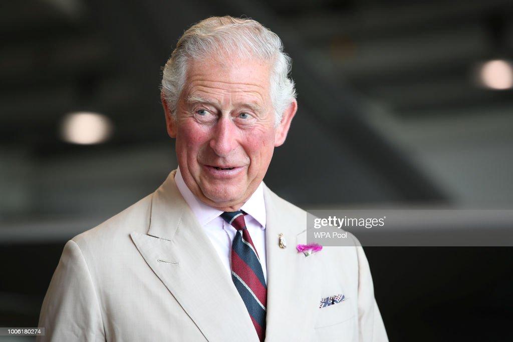 The Prince Of Wales Visits 617 Squadron At RAF Marham