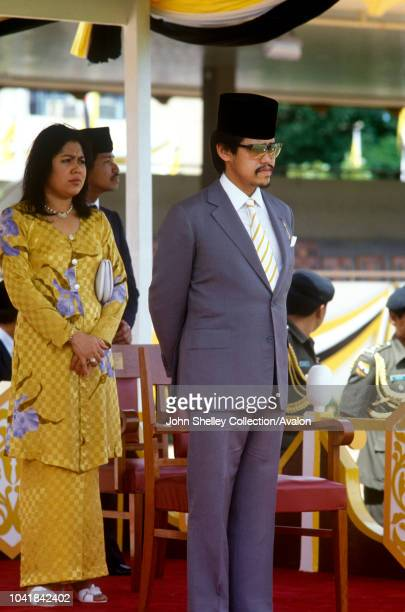 Prince Charles Prince of Wales visits Brunei to officially confer independence on the nation 1984