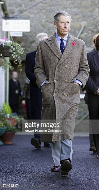 Prince Charles, Prince of Wales visits Dunterly Farm on November 9, 2006 in Norhumberland, England.