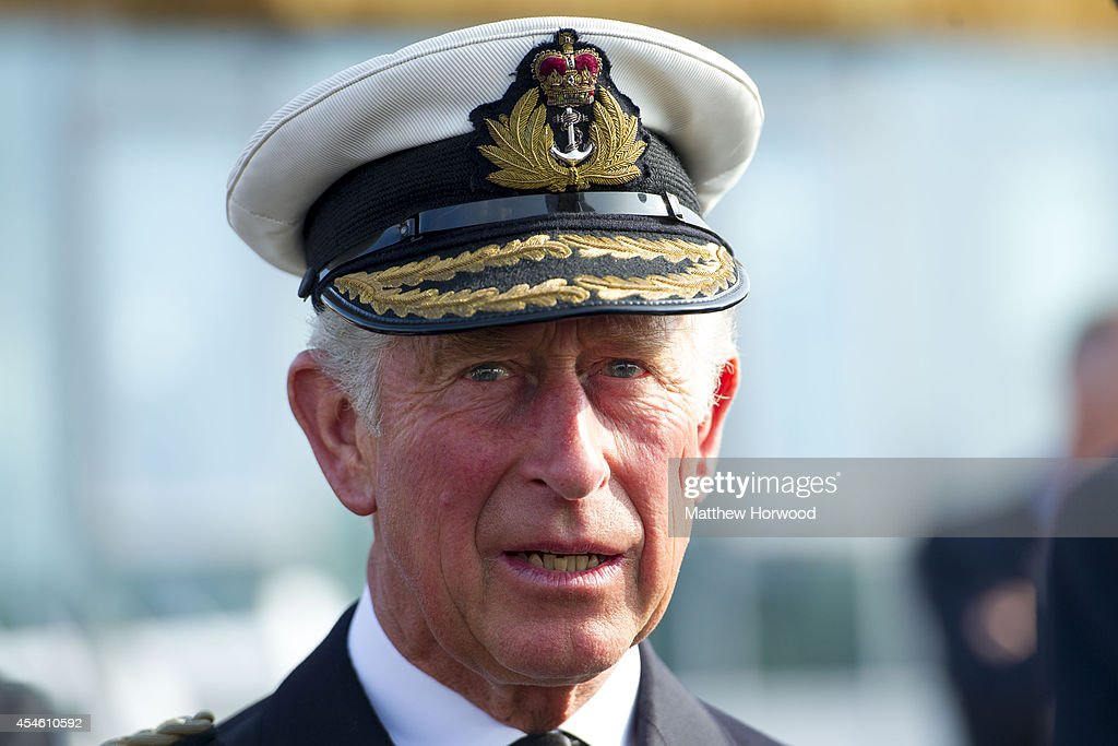 The Prince Of Wales Visits HMS Duncan : News Photo
