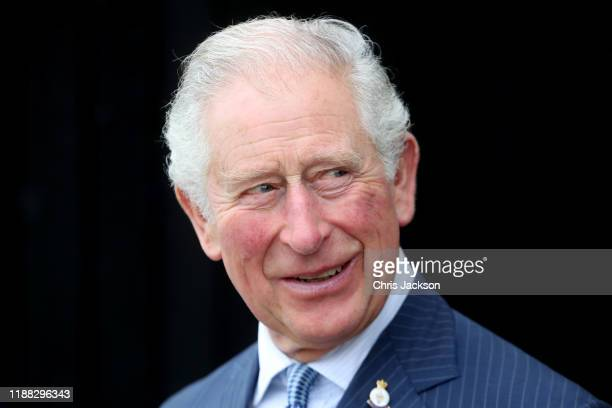 Prince Charles, Prince of Wales visits Hunting Lodge Vineyard on November 18, 2019 in Auckland, New Zealand. The Prince of Wales and Duchess of...