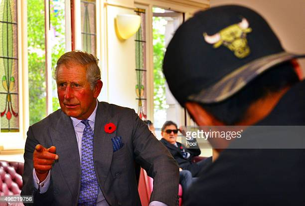 Prince Charles Prince of Wales visits Nga Rangatahi Toa on November 8 2015 in Auckland New Zealand The Royal couple are on a 12 day tour visiting...