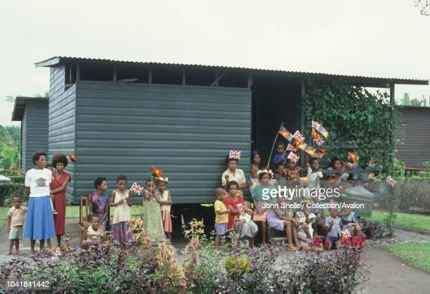 Prince Charles Prince of Wales visits Papua New Guinea to officially open the new National Parliament Building in Waigani Port Moresby 8th August 1984