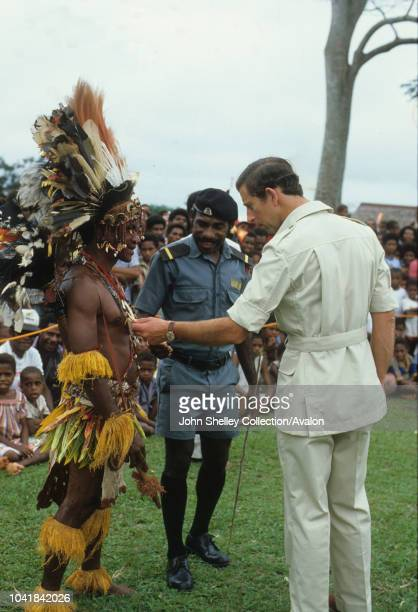 Prince Charles, Prince of Wales, visits Papua New Guinea to officially open the new National Parliament Building in Waigani, Port Moresby, 8th August...
