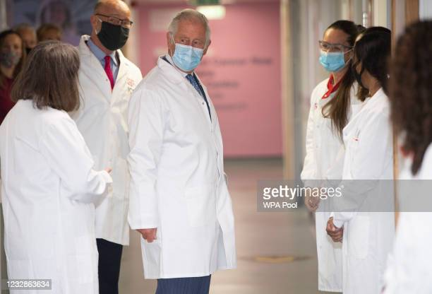 Prince Charles, Prince of Wales visits the Breast Cancer Now Toby Robins Research Centre, 21 years after the Prince of Wales formally opened the...